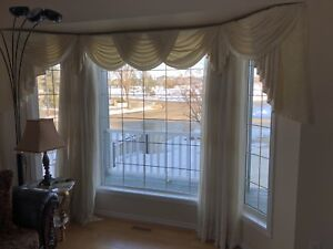 Balance and drapes for 6 windows