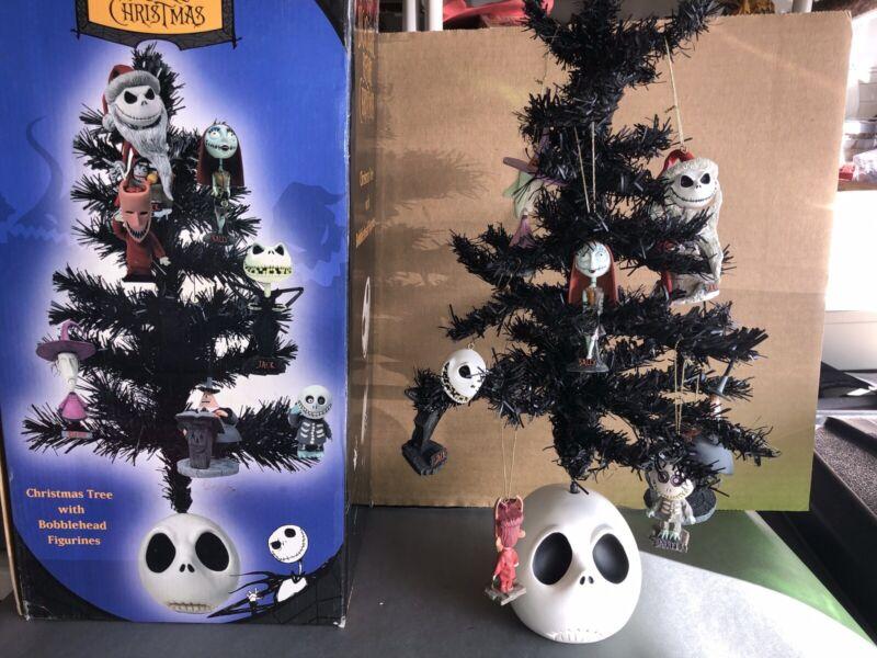 TIM BURTON VINTAGE NECA NIGHTMARE BEFORE CHRISTMAS TREE & BOBBLEHEAD ORNAMENTS