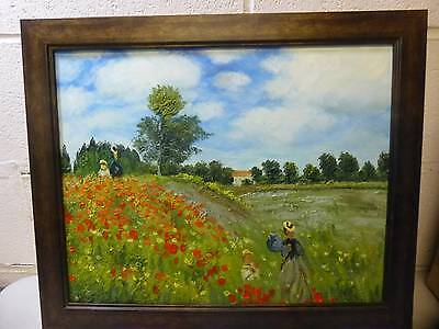 overstockArt Monet Poppy Field in Argenteuil Oil Painting, Verona Cafe Coffee
