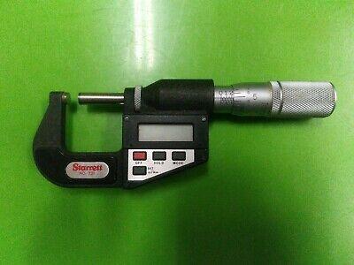 Starrett 731 0-1 Digital Micrometer Carbides W Output Usa Machinist
