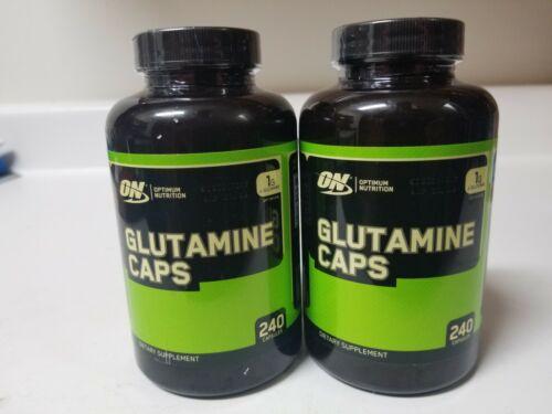 240 Ct  Capsules Optimum Nutrition Glutamine caps 1G L-Glut