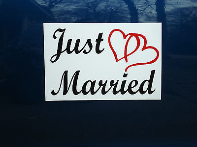 JUST MARRIED CAR MAGNETIC SIGN 8
