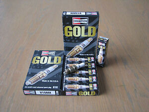 Buick-V6-All-In-line-V8-305-5-0L-445-7-5L-V15MX-Champion-GOLD-Spark-Plugs-x-6