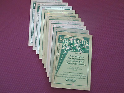 Lot 10 Vintage Orchestra Books on Rummage