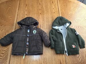 18 month jacket and hoodie