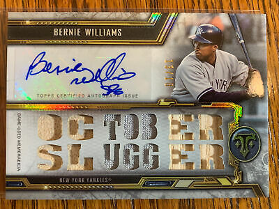 BERNIE WILLIAMS 2020 TOPPS TRIPLE THREADS AUTO JERSEY BAT SCRIPT RELIC 13/18