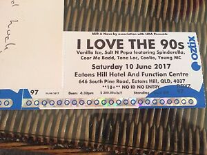 I love the 90s tickets x2 Brisbane Coorparoo Brisbane South East Preview