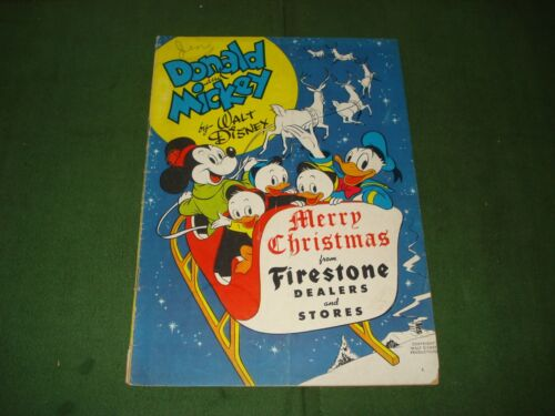 1948 FIRESTONE GIVEAWAY DONALD AND MICKEY PROMOTIONAL COMIC BOOK, SCARCE