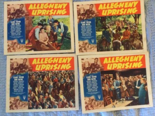 ALLEGHENY UPRISING 6 LOBBY CARDS JOHN WAYNE