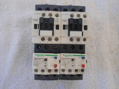 Schneider Electric Reversing Contactor  LC2D32G7 w/Overload Relay  LRD10