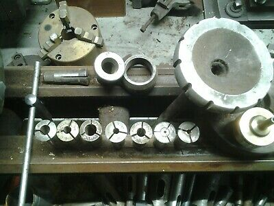 Logan 11 3at Lathe Collet Draw Tube And Collets For Logan Lathe