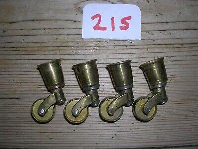 SET OF FOUR BRASS CUP CASTORS  (215)