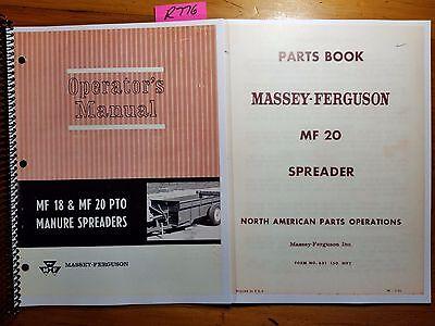 Massey Ferguson Mf 20 Pto Manure Spreader Owner Operator Manual 67 Parts 65
