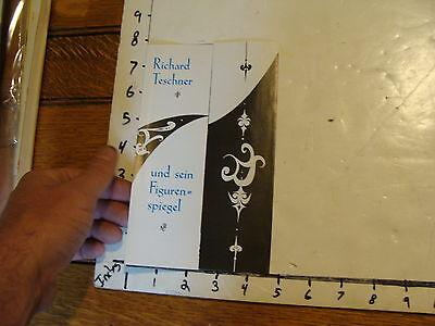 Vintage MARIONETTE Paper: RICHARD TESCHNER opening brochure