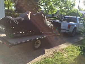 2002 arctic cat 800 twin efi and a sled trailer for sale