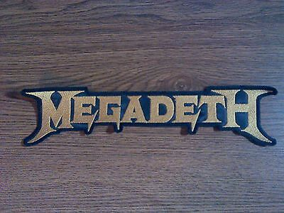 MEGADETH,SEW ON GOLDEN EMBROIDERED LARGE BACK PATCH
