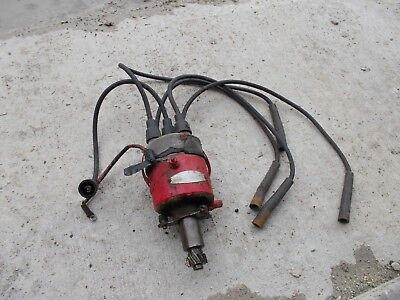 Massey Harris 44 Tractor Orignl Mh Engine Motor Distributor Drive Assmbly Wires