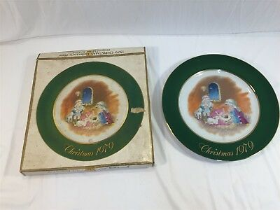 1979 Christmas Collector's Plate With Box Eve Rockwell Limited Edition Japan