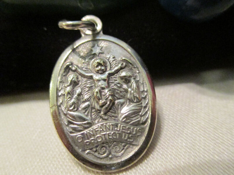 Vtg. INFANT JESUS PROTECT US Silver Medal ~Bishops Committee Diocese BUFFALO