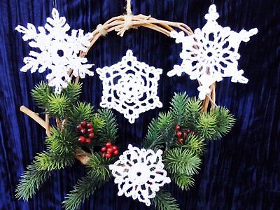 naments (Set of 4) - Handcrafted/Lacy/Christmas - (Set