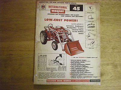 Farmall International Cub Tractor Wagner Loader Manual
