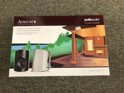 Polk Audio Atrium 6 White (Pr) All-Weather Outdoor Loudspeakers brand new