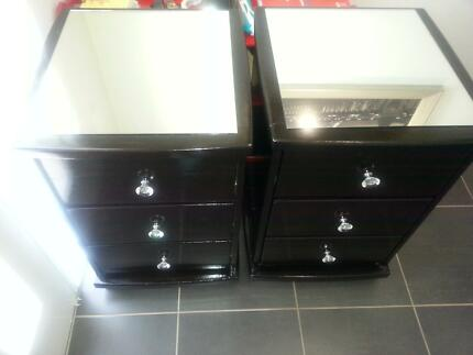 2 x Japan Black painted Pine bedside tables Pimpama Gold Coast North Preview