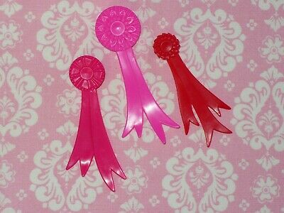 Mattel Barbie Doll Accessory Lot ~ HORSE RIDING ~ 3 WINNERS RIBBONS~ Accessories