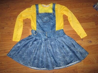 Girls MINION Halloween Costume sz L Lg 10 -12](Minion Halloween Costume Girls)