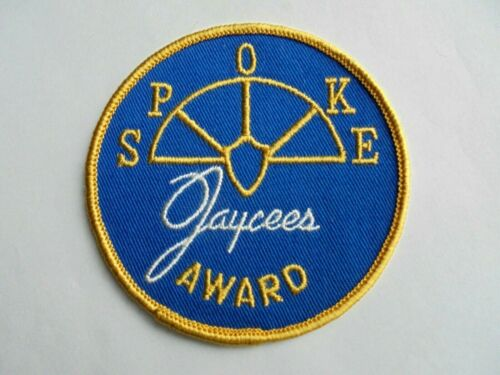 Vintage Jaycees SPOKE Award Sew On Patch
