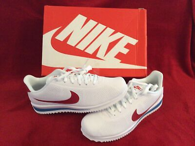 Genuine Nike Cortez Ultra Moire Trainers UK Size 9.BNIB, WHITE-Red-blue.