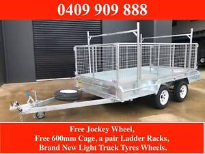12x6 Box Trailer Galvanised with 600 mm Cage Ladder Racks New Light Malvern Stonnington Area Preview