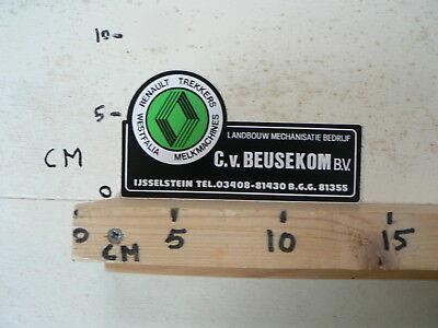 STICKER,DECAL RENAULT TREKKERS WESTFALIA MELKMACHINES C.V. BEUSEKOM BV IJSSELSTE