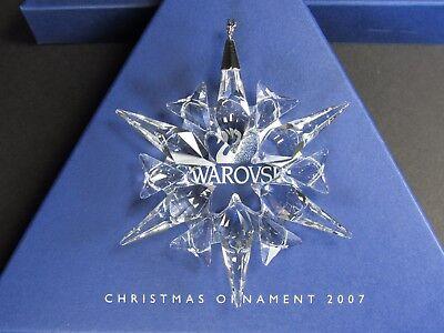 Swarovski Large Annual Edition Christmas Ornament 2007 MIB #872200