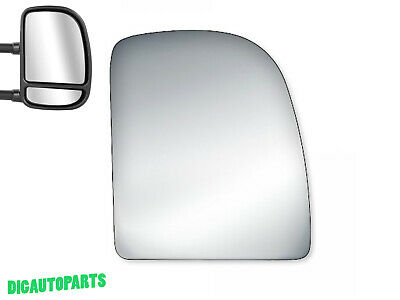 Upper Towing Mirror Glass for Ford E150,E150 Club Wagon,E-250,E350 Right Side RH - Ford E-150 Club Wagon Mirror