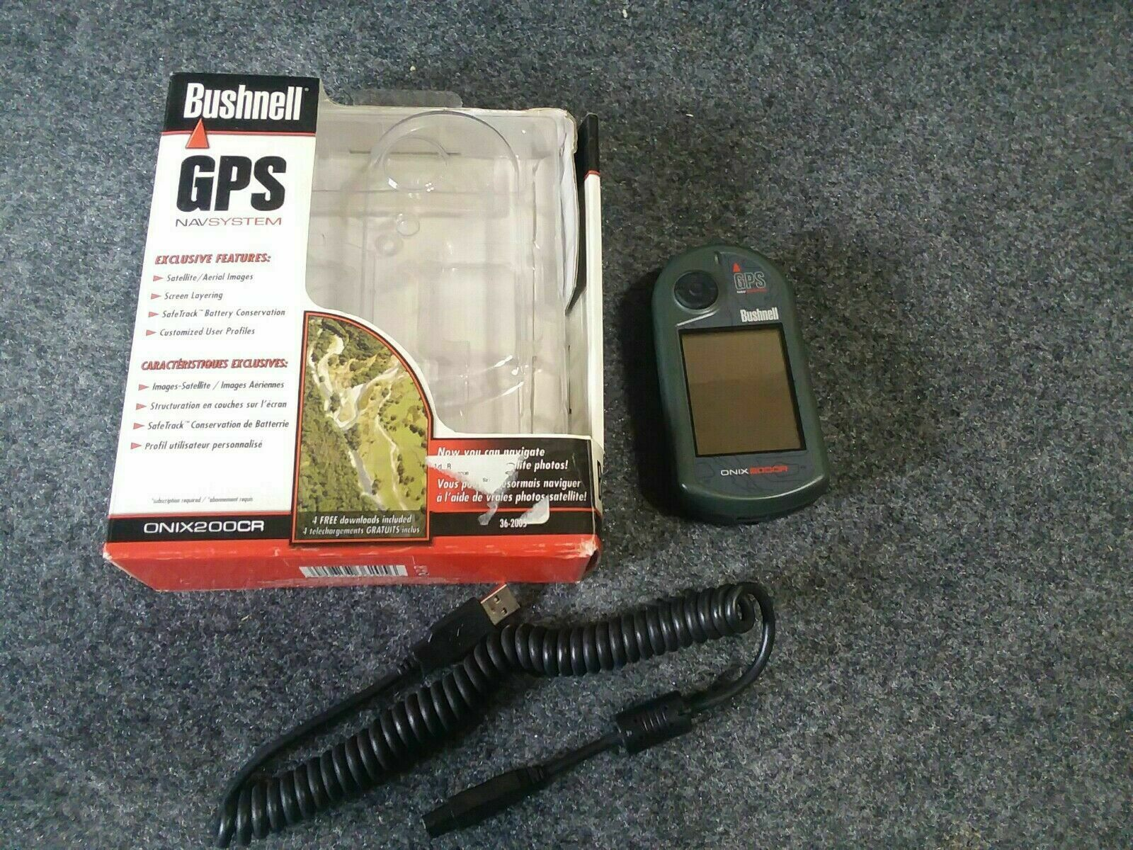 Factory Sealed Bushnell GPS Navsystem Handheld GPS Unit ONIX200CR IOB