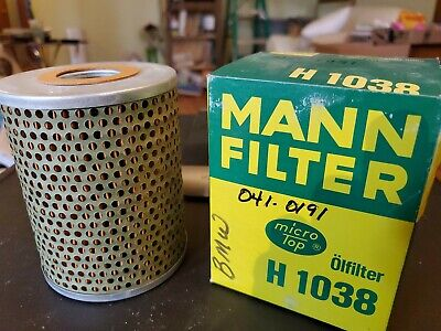 NEW MANN Micro Top fits BMW H1038 Oil Filter NOS FREE SHIPPING