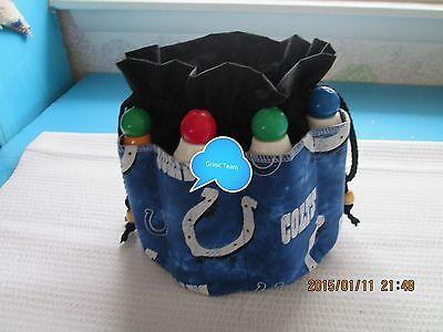 Bingo Bag / Tote Bag  Football  Indianapolis ColtsGift Graduation Birthday (Football Bingo)