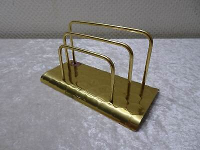 Brass Letter Holder Hammer Blow Design - Vintage - around 1950/60