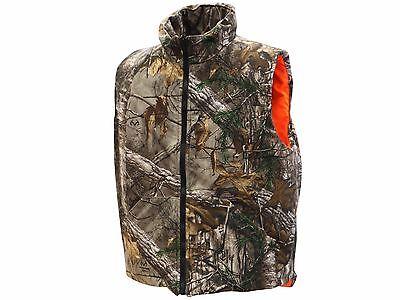 Men's Insulated Reversible Vest Hunting Shooting CAMO REALTREE/MAX - Orange Vest