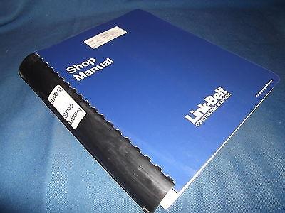 Link Belt 1600q Excavator Service Shop Repair Manual