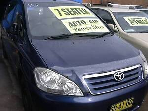 2002 Toyota Avensis 7 seater family wagon full serviced ... Clyde Parramatta Area Preview