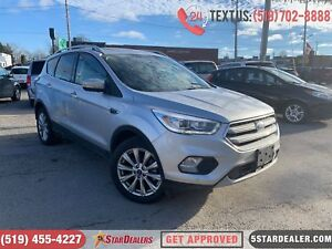 2018 Ford Escape Titanium | 1OWNER | NAV | ROOF | LEATHER | 4X4