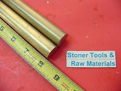 2 Pieces 34 C360 Brass Round Rod 8 Long Solid .750 New Lathe Bar Stock H02