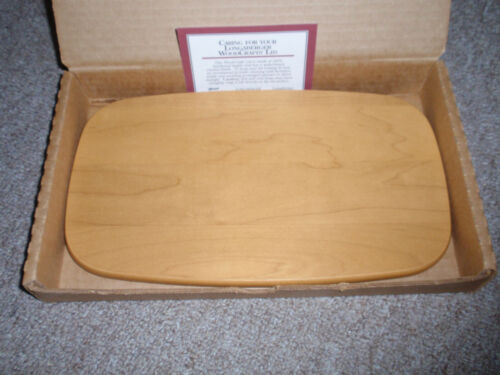 """Longaberger WOODCRAFT """"LID"""" FOR THE COLLECTORS CLUB WHISTLE STOP BASKET, NEW!!!"""