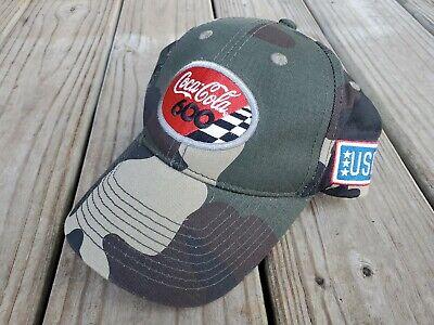 Coca Cola 600 Camo Hat/Cap! USO - Hunting/Fishing - Checkered Flag