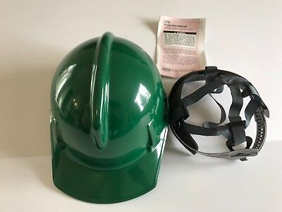 Msa 475383 Green Topgard Slotted Hard Hat Protective Cap Staz-on Suspension