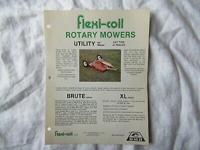 Flexi-coil Bmb 60 Utility Rotary Mower Brochure