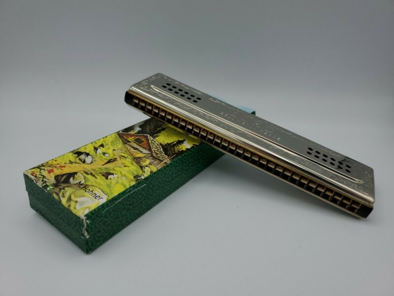 Vintage Hohner The Echo Harp Key C & G in Original Box Brand New Rare