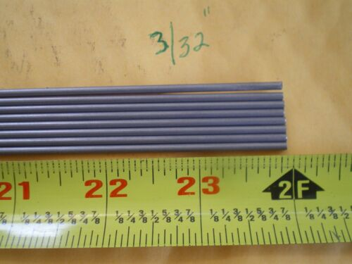 """7 PCS. STAINLESS STEEL ROUND ROD 302, 3/32"""" (.093"""") (2.38MM.) X 24"""" LONG"""